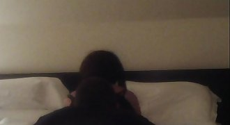 Cuckold money sucking spycam in Hotel my wife is a holy bitch