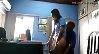 COLLEGE Principal fucks teen Student in Office MMS
